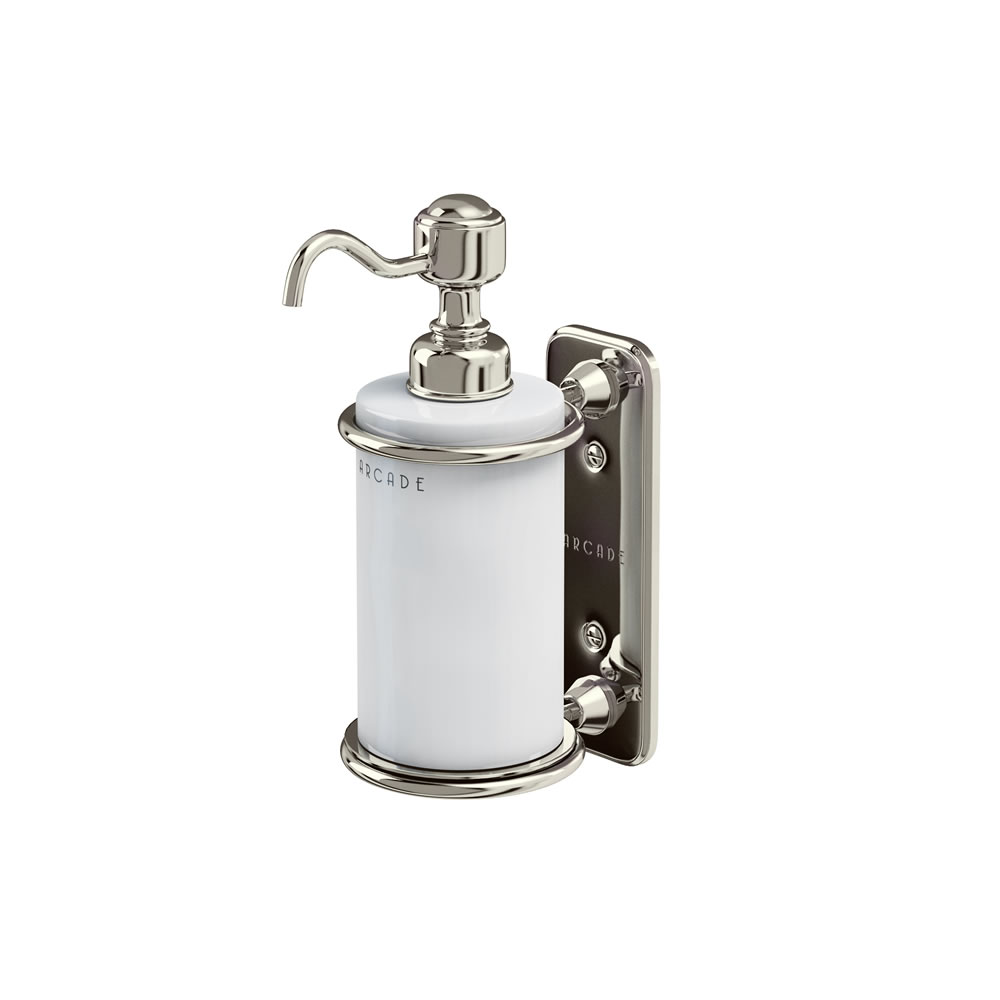 Arcade wall-mounted single soap dispenser ceramic
