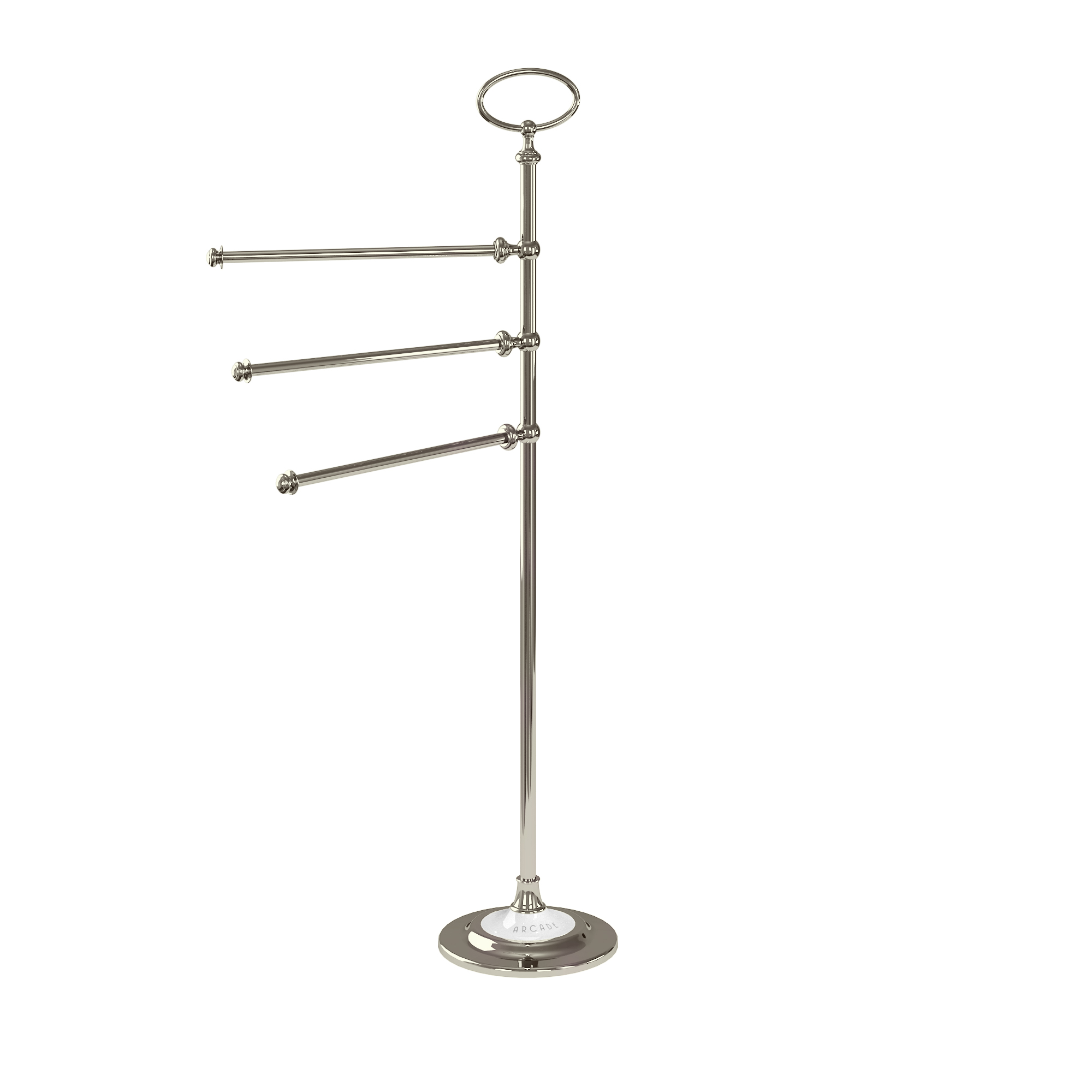 Arcade free-standing triple towel rail stand