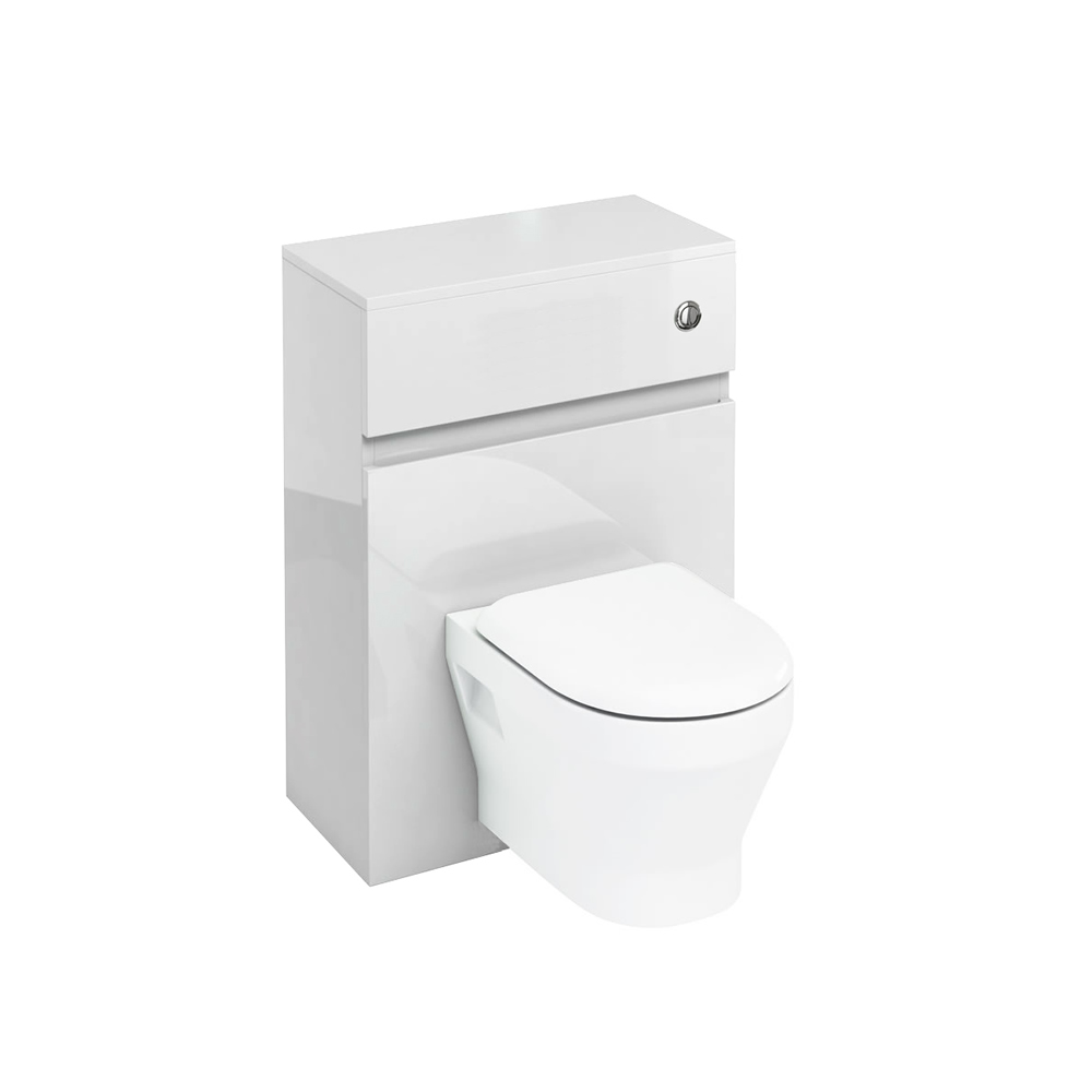 D30 wall hung WC unit with push button