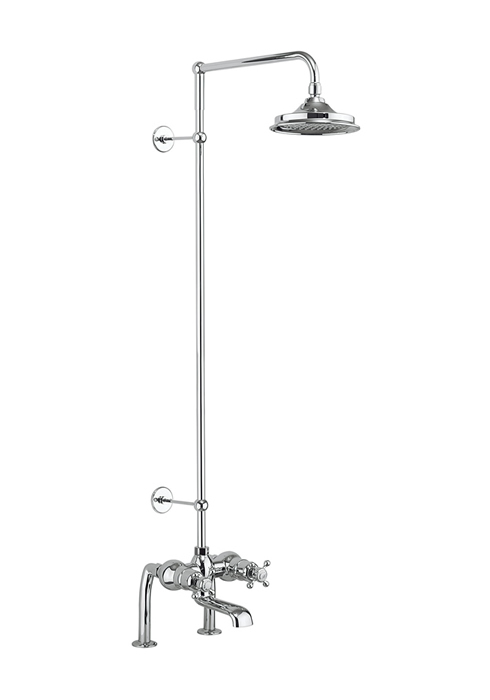 Burlington thermostatic bath shower mixer deck mounted with rigid