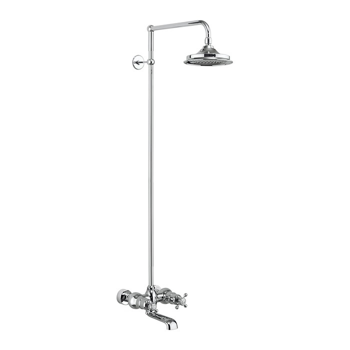 Tay Thermostatic Bath Shower Mixer Wall Mounted with Rigid Riser
