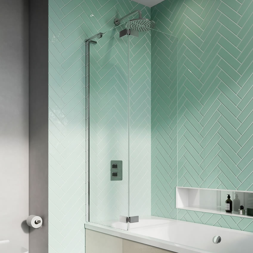 Infinity Hinged Bath Screen