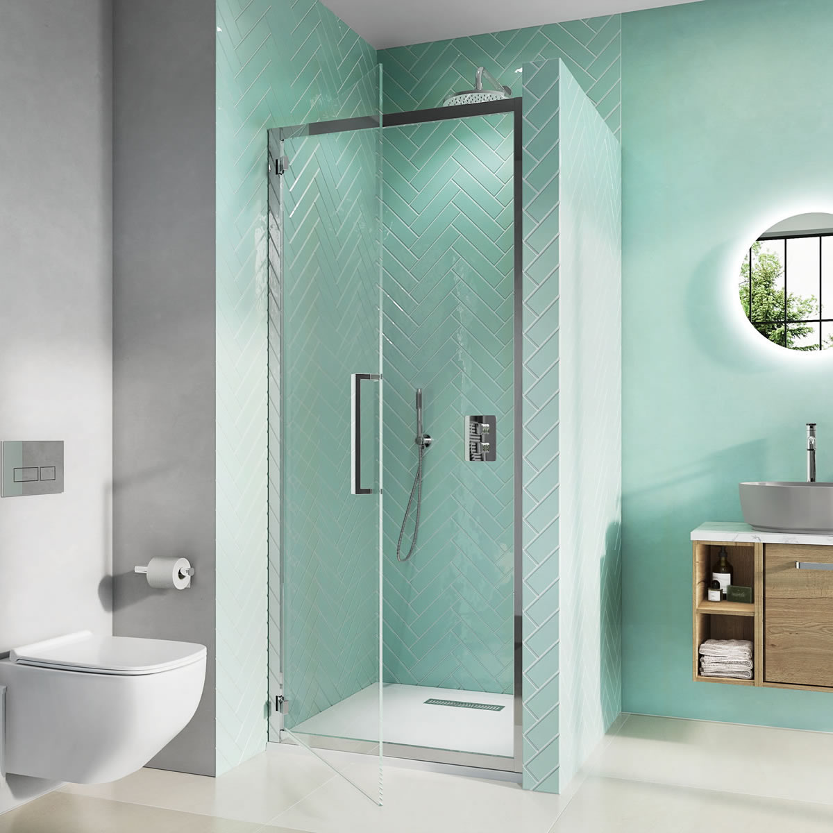 Infinity hinged door stainless steel