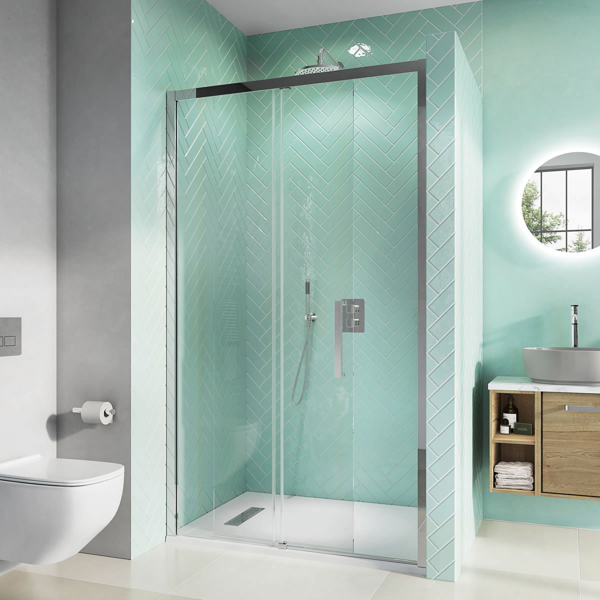 Infinity 8 Single Sliding Door with Soft Close