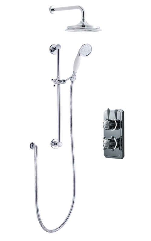 Classic 1910 dual outlet shower set